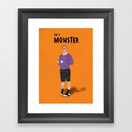 Arrested Development - Buster Bluth I'm A Monster Framed Art Print