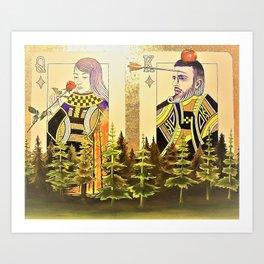 Nie żałuj róż gdy płonie las Art Print