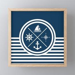 Sailing symbols Framed Mini Art Print