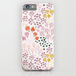 Floral Fields Pattern Design iPhone Case