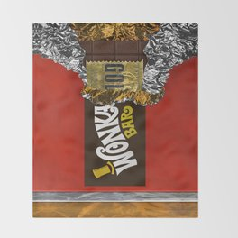 wonka chocolate bar with golden ticket iPhone 4 5 6 7 8, tshirt, mugs and pillow case Throw Blanket