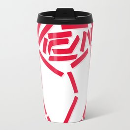 Abstracted Rose Travel Mug