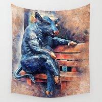 taurus Wall Tapestries featuring Taurus by jbjart