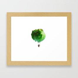 Iceberg Balloon Framed Art Print