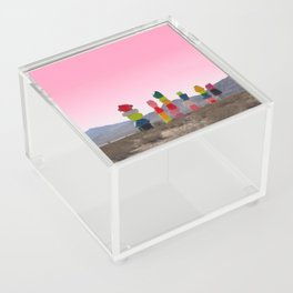 Seven Magic Mountains with Pink Sky - Las Vegas Acrylic Box