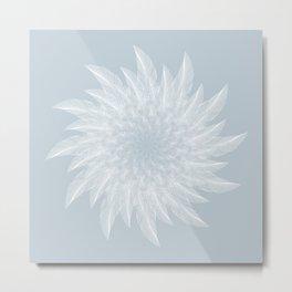 Feather Flower Metal Print