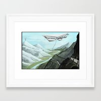 giants Framed Art Prints featuring GIANTS by Erik Anarchie