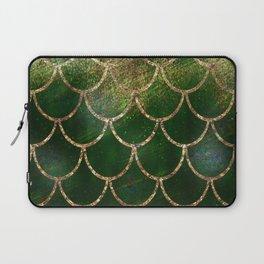 Green & Gold Mermaid Scales Laptop Sleeve