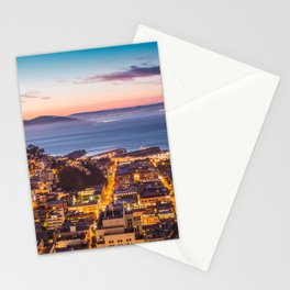 Coit Tower Alcatraz Stationery Cards