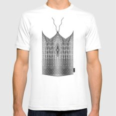Spirobling XXIV - Knitted Crown MEDIUM White Mens Fitted Tee