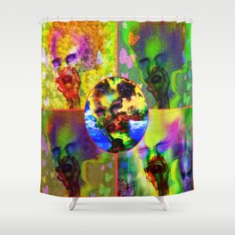 """""""Warholesque"""" by surrealpete Shower Curtain"""