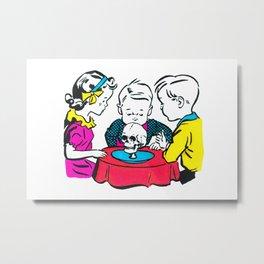 Smelling The Skull Metal Print