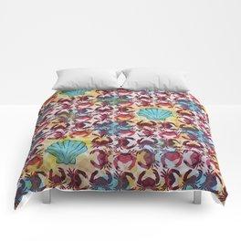 Crabs & Shells print Comforters