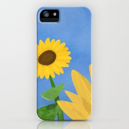Sunflower Day iPhone Case