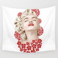 monroe Wall Tapestries featuring Marilyn Monroe by FalcaoLucas