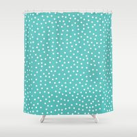 dots Shower Curtains featuring Dots. by Priscila Peress