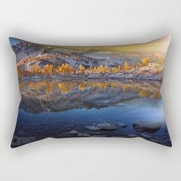 Vibrant Landscape Sunset Rectangular Pillow