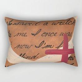 Amazing Grace heart cross Rectangular Pillow