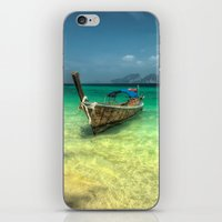 thailand iPhone & iPod Skins featuring Thailand Longboat by Adrian Evans