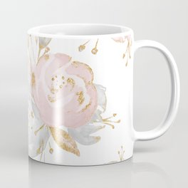 Roses Gold Glitter Pink by Nature Magick Coffee Mug