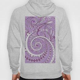 zen tangled swirl pattern 1 on the violet Hoody