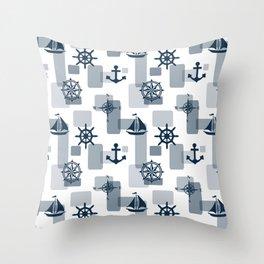 Nautical design 5 Throw Pillow