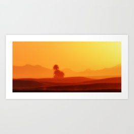 Oasis in the Sahara Desert Art Print