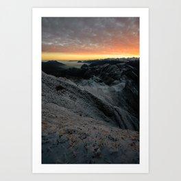 Sunrise from Brienzer Rothorn Art Print