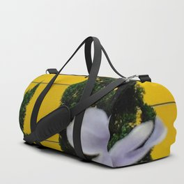 Talk of Iris and Pine Duffle Bag