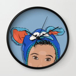 My Bunny Hat Wall Clock