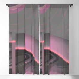 Claraboya, Geodesic Habitacle, Pink neon room Blackout Curtain