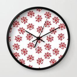 Christmas Red Deers Wall Clock