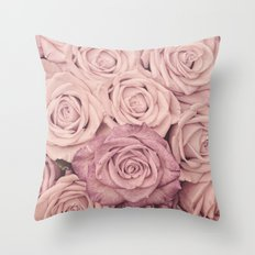 Some people grumble - Pink rose pattern- roses- oct17cb Throw Pillow