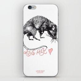 love rat iPhone Skin