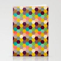 hexagon Stationery Cards featuring Fun Hexagon by Louise Machado