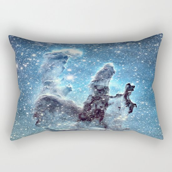Pillars of Creation Blue Rectangular Pillow