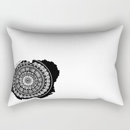 The Island of Kauai [Tribal Illustration] Rectangular Pillow