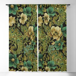 Pink Rose Paisley Floral Blackout Curtain