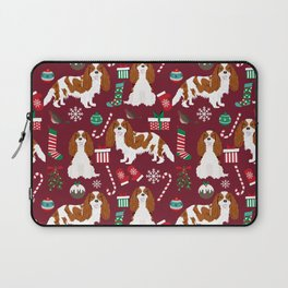Cavalier King Charles Spaniel blenheim coat christmas pattern dog breed by pet friendly Laptop Sleeve