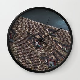 Roof of the Hotel oblique house Ulm Wall Clock