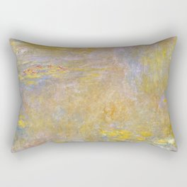Sea-Roses (Yellow Nirwana) by Claude Monet Rectangular Pillow