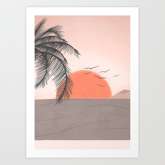 Summer Sunset by flowline
