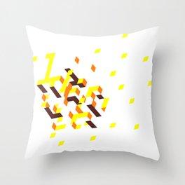 La colline mélancolique blanche Throw Pillow