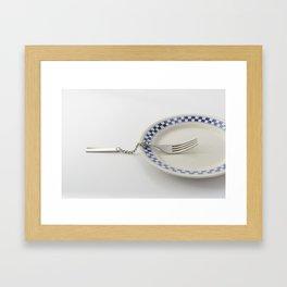 Chain fork Framed Art Print