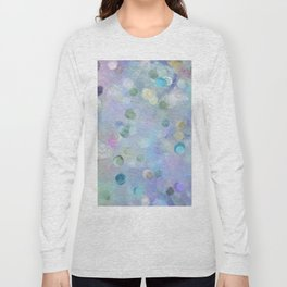 Watercolor Abstract Geometric Pattern Long Sleeve T-shirt