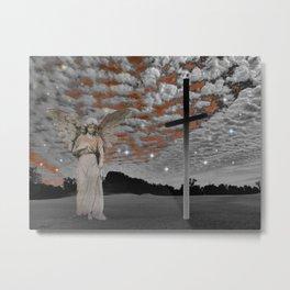 Surreal Angel Lady Woman Cloud Star Sky Spiritual Dunes Art A330 Metal Print