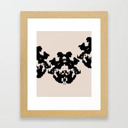Black Rorschach inkblot Framed Art Print