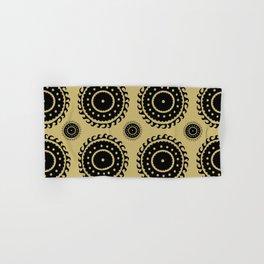 Black and Olive print Hand & Bath Towel