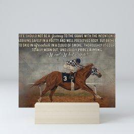 Horse Secretariat What A Ride Mini Art Print