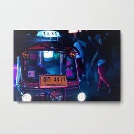 Bangkok Thailand Neon Tuk Tuk 1 Metal Print